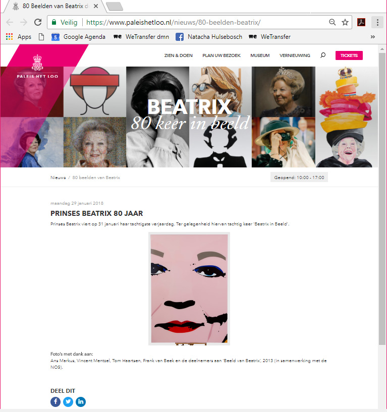 natachahulsebosch website paleis het loo beatrix 80jaar