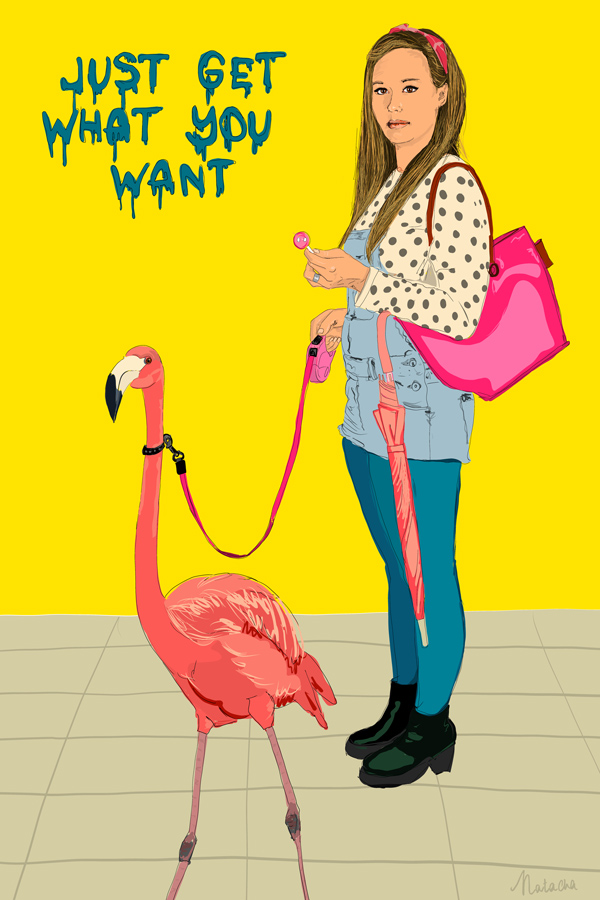 Natacha Hulsebosch ART - Flamingo Girl